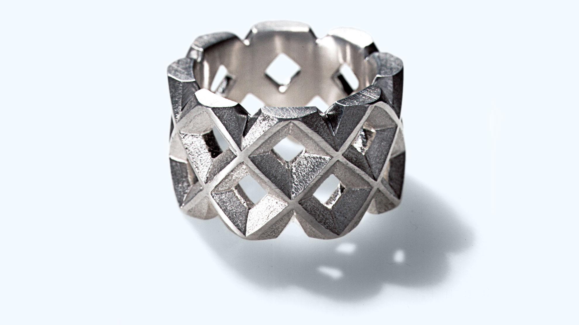 04 Ring Gitter 925 Silber