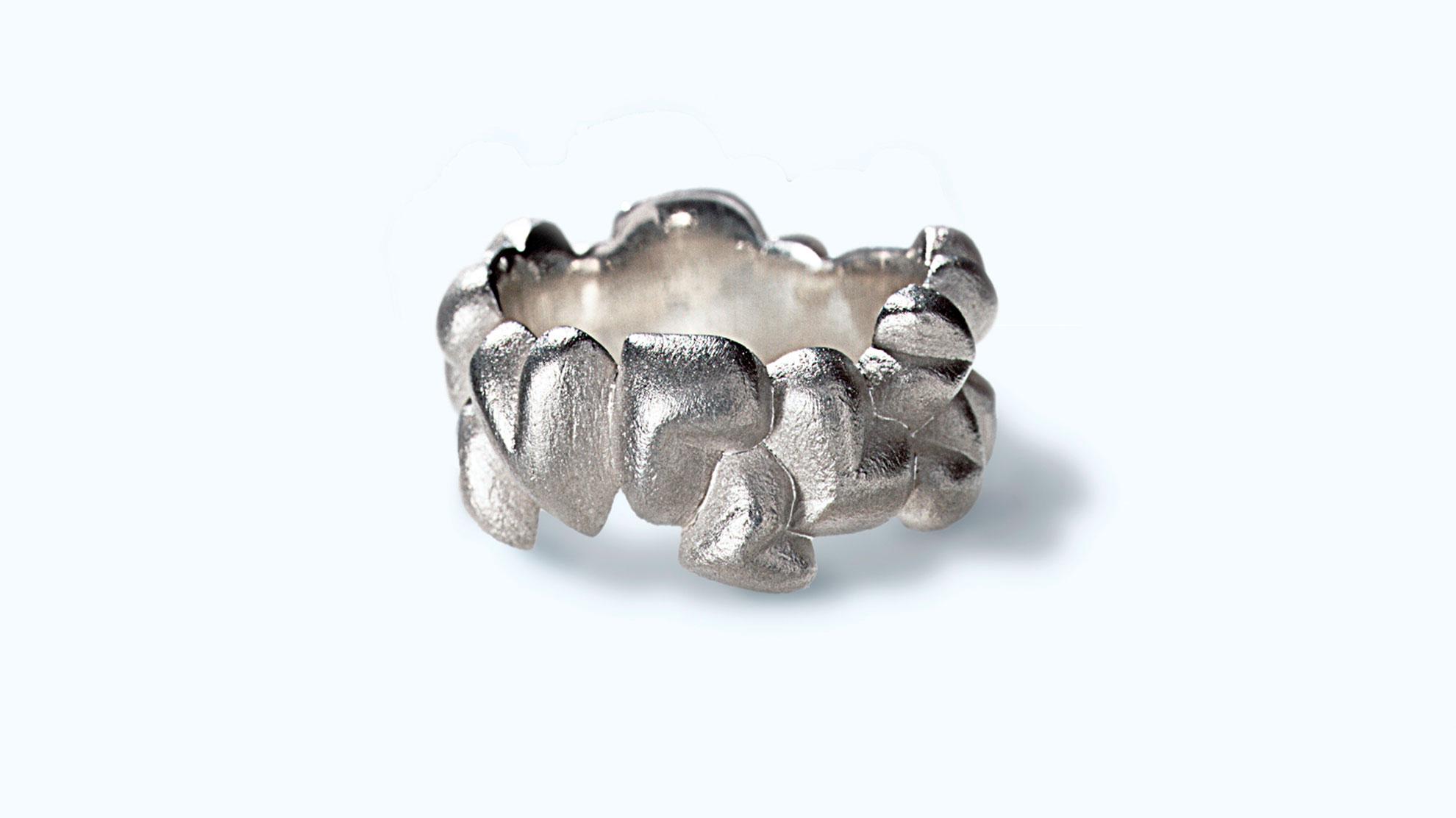 Ring Herzen 925 Silber
