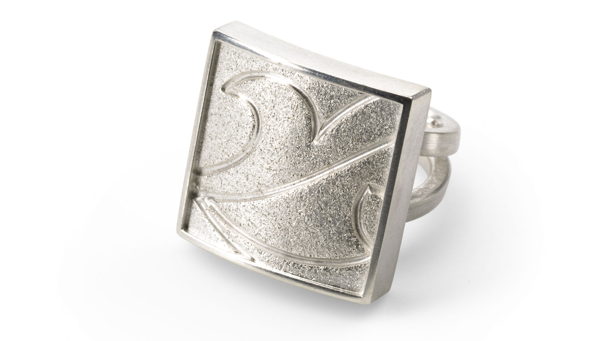 19 Ring Relief 925 Silber